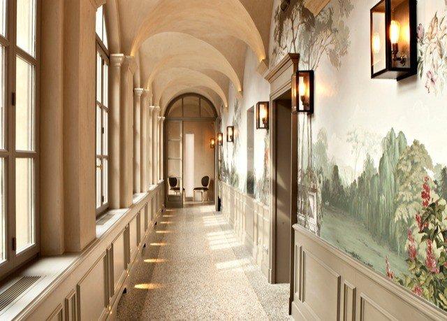 aisle Lobby hall mansion arcade lined stone