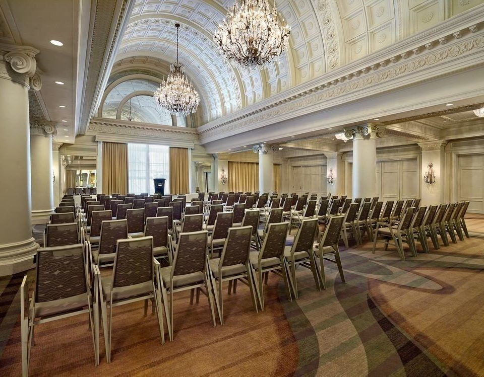 chair auditorium function hall conference hall palace ballroom aisle convention center synagogue Lobby lined