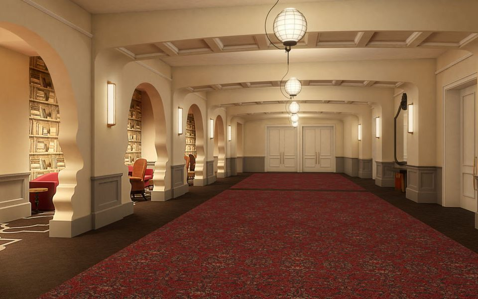 property Lobby building flooring aisle hall auditorium mansion palace ballroom function hall