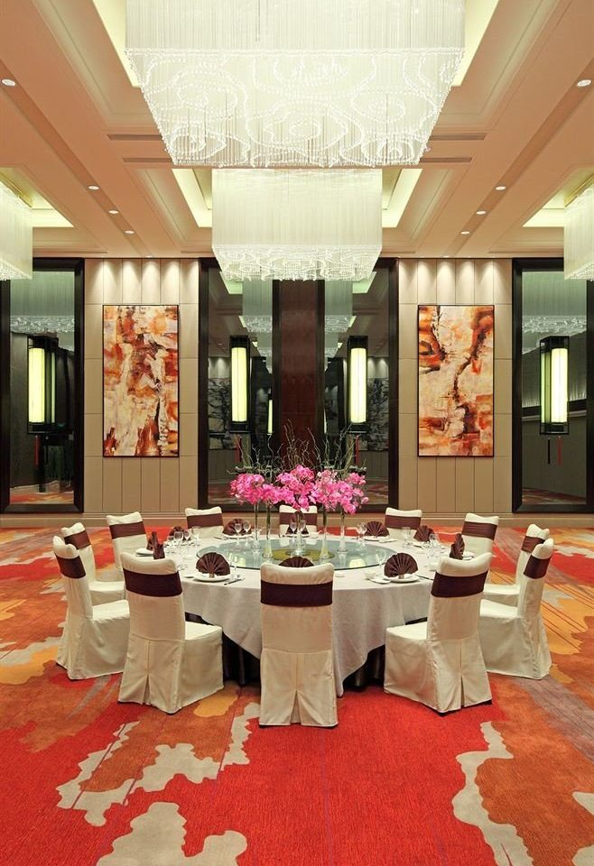 function hall aisle red ballroom banquet restaurant Lobby living room flooring