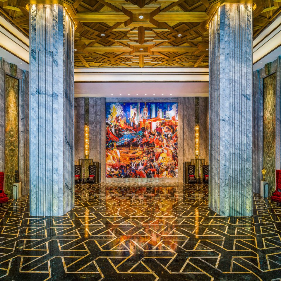 Lobby art colorful altar tiled colored