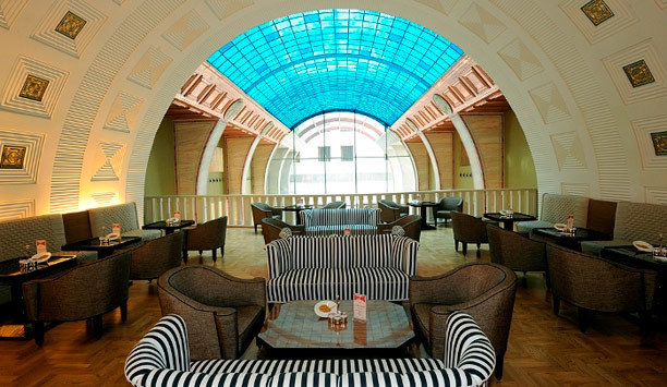 Lobby restaurant arch