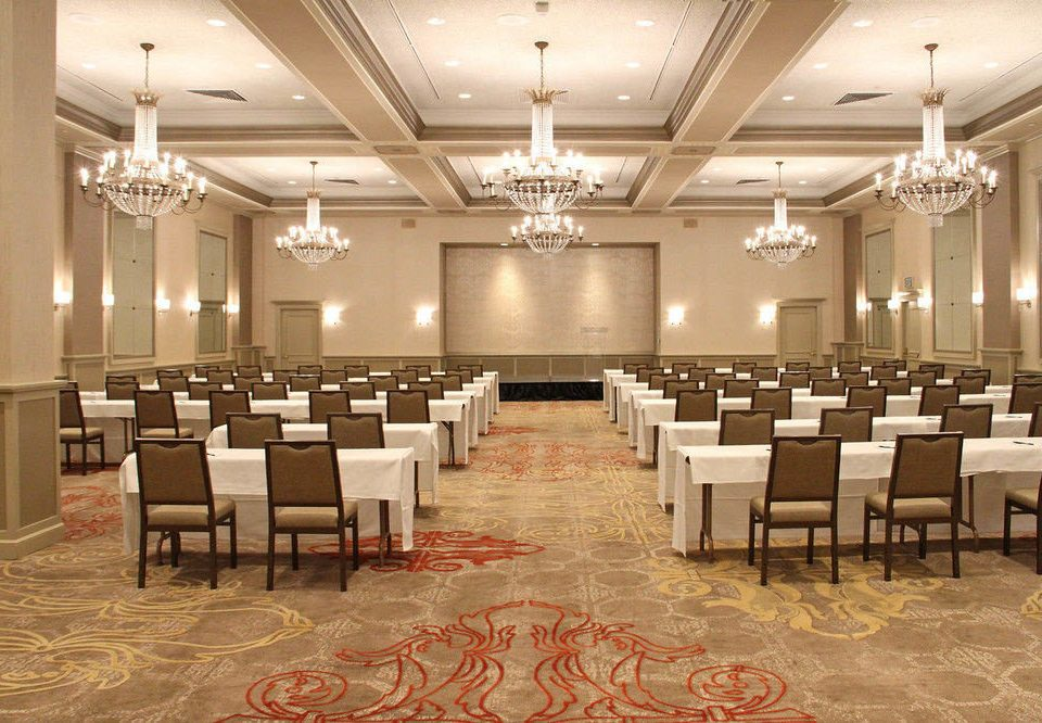 chair function hall auditorium conference hall banquet ballroom convention center restaurant Lobby meeting arranged