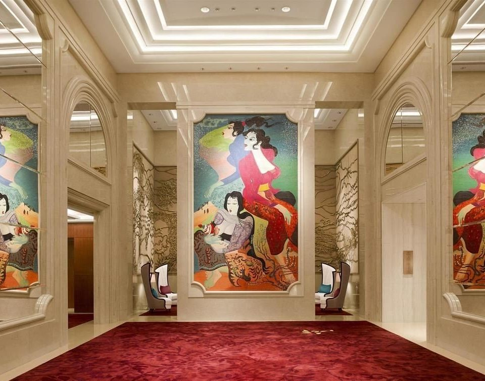mural art Lobby modern art home living room tourist attraction art gallery exhibition