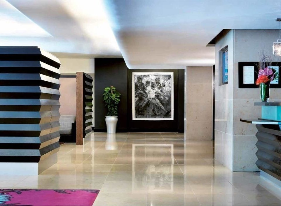 Lobby tourist attraction modern art living room flooring professional art gallery