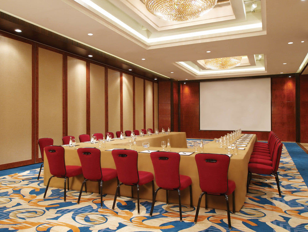 chair function hall conference hall red restaurant auditorium banquet Lobby convention center meeting ballroom dining table