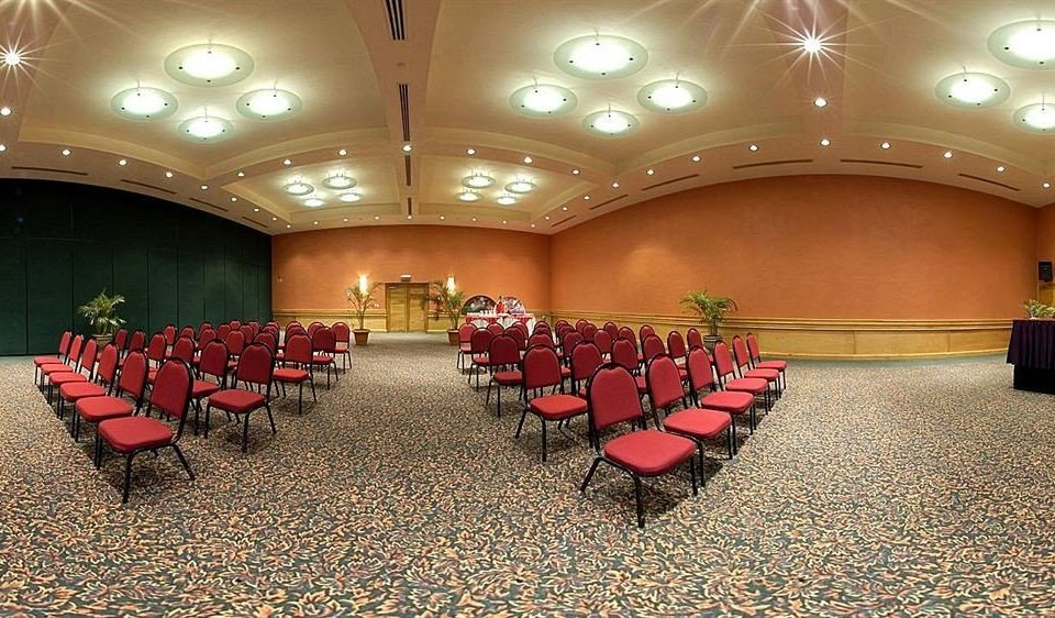chair auditorium function hall conference hall banquet ballroom convention center Lobby theatre line lined
