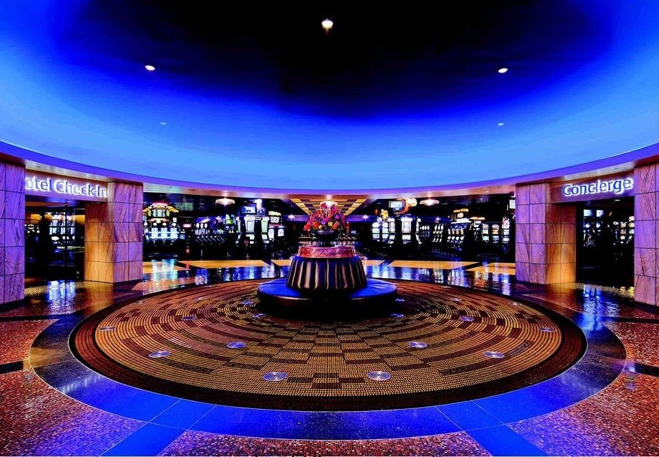 blue stage function hall theatre auditorium nightclub Lobby ballroom convention center bright colored
