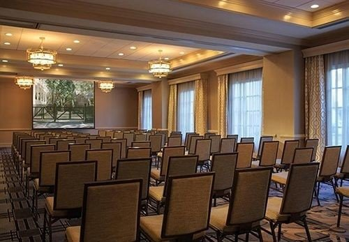chair auditorium conference hall function hall Lobby convention center meeting ballroom theatre conference room