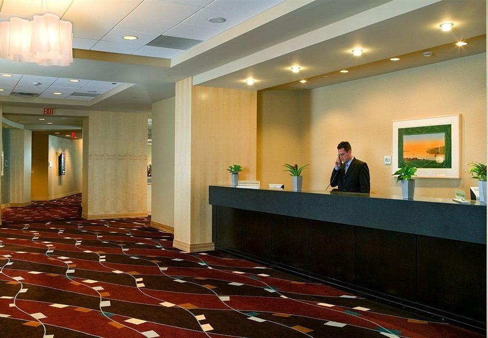 Lobby conference hall auditorium function hall receptionist convention center ballroom