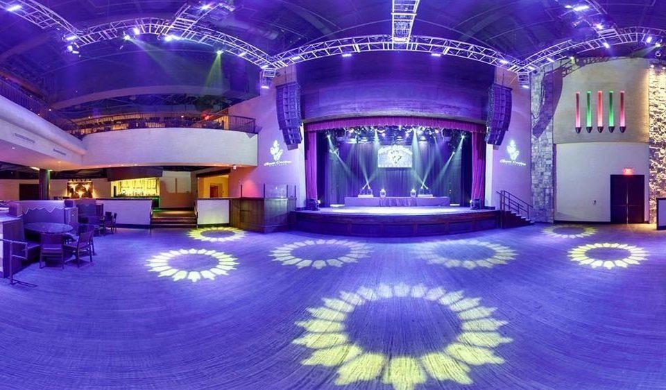 stage purple function hall nightclub theatre ballroom auditorium convention center music venue Lobby mansion