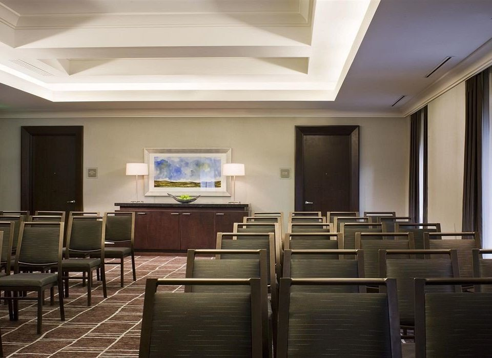 chair auditorium conference hall building classroom convention center function hall Lobby