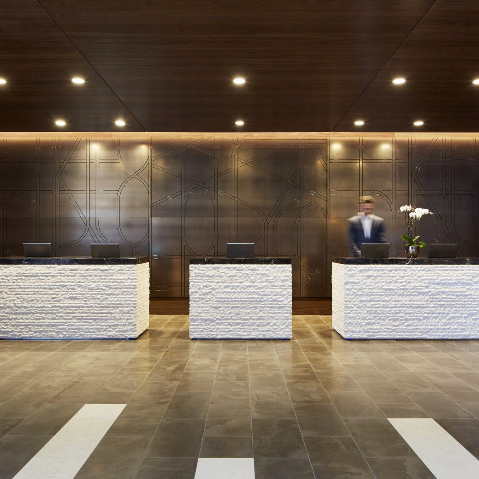 building Lobby flooring lighting wood flooring platform auditorium