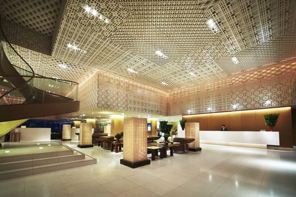 Lobby convention center lighting auditorium function hall tourist attraction headquarters