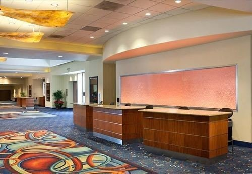 property Lobby recreation room orange auditorium