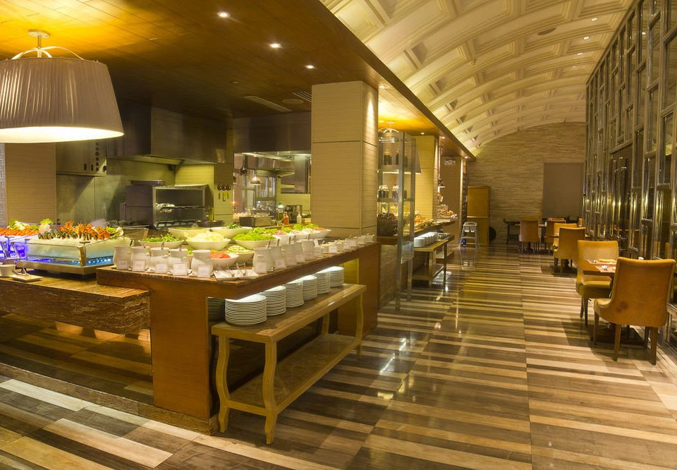Lobby restaurant buffet cafeteria function hall bakery café food