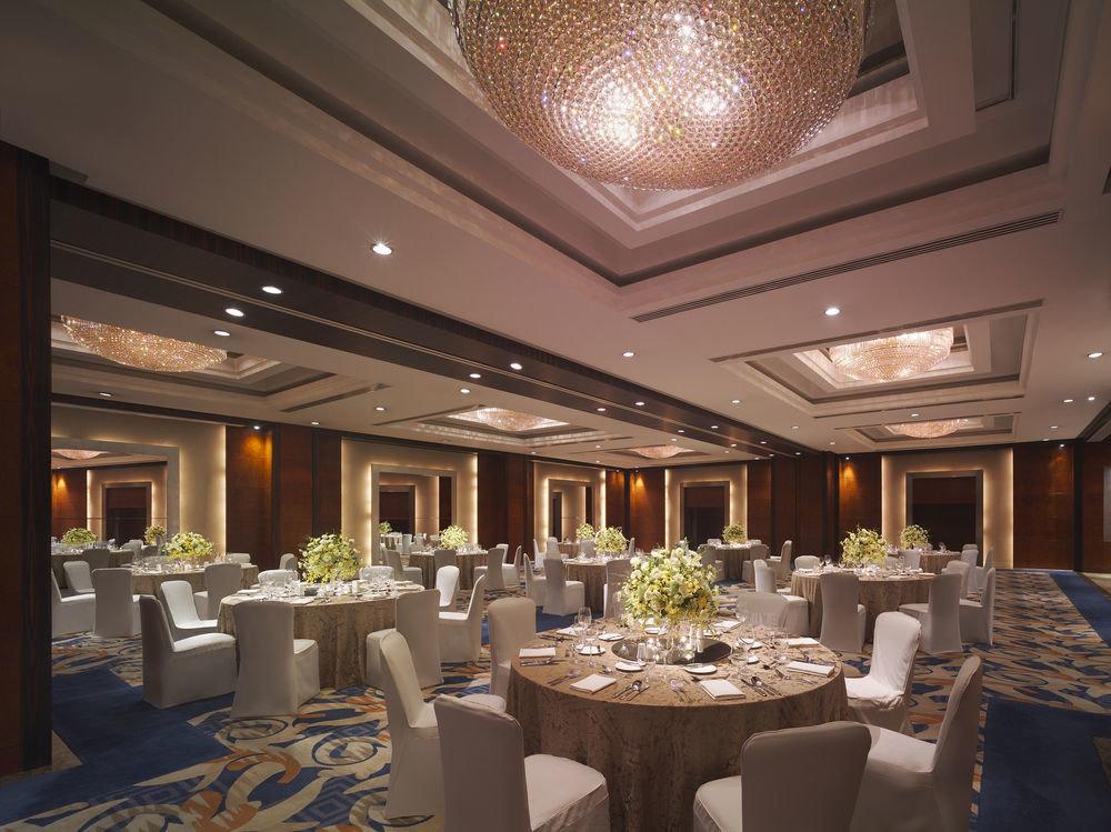 function hall restaurant Lobby ballroom banquet convention center fancy long set