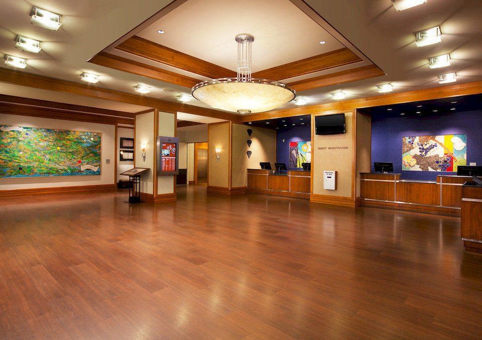Lobby building recreation room function hall wood flooring flooring ballroom hard empty