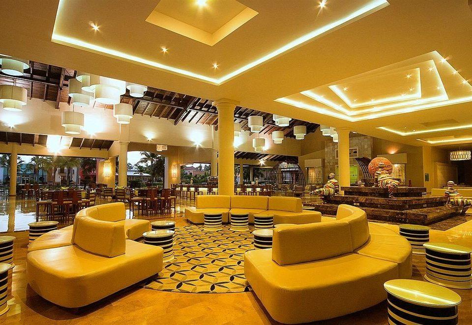 Lobby function hall restaurant convention center café ballroom