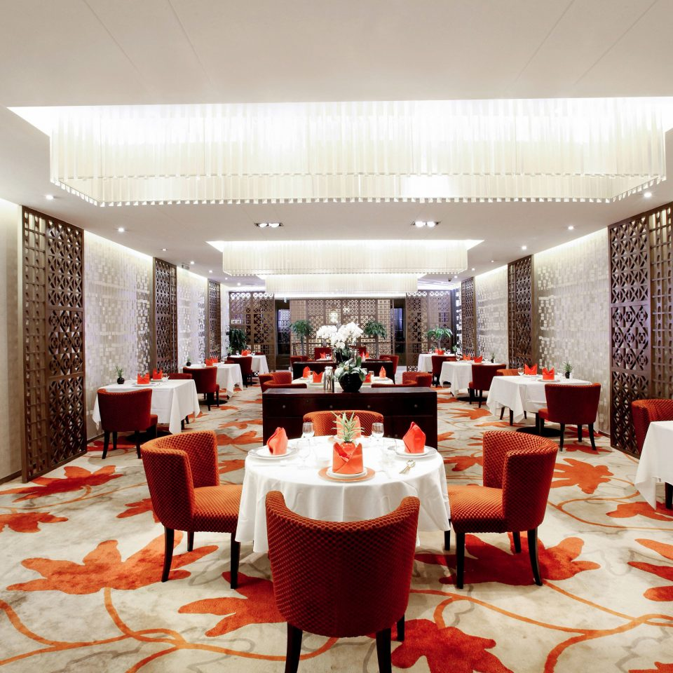 function hall restaurant red Lobby convention center conference hall ballroom