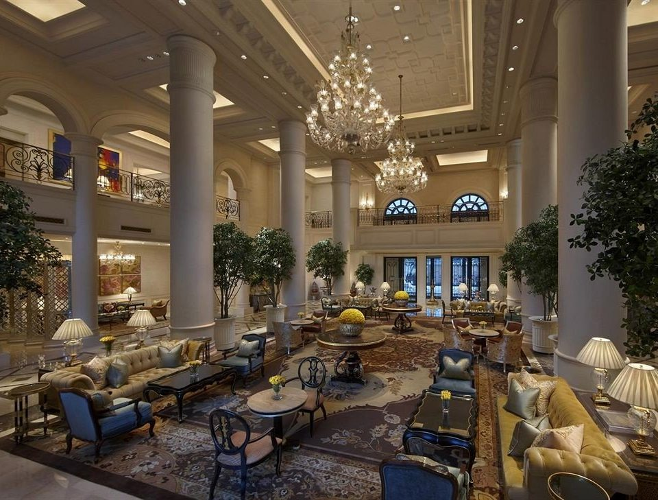 Lobby restaurant function hall home palace living room ballroom mansion