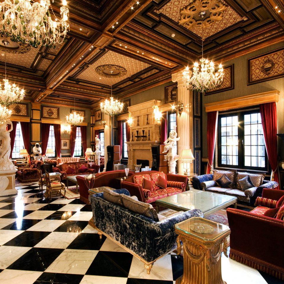 Lobby palace restaurant mansion function hall ballroom