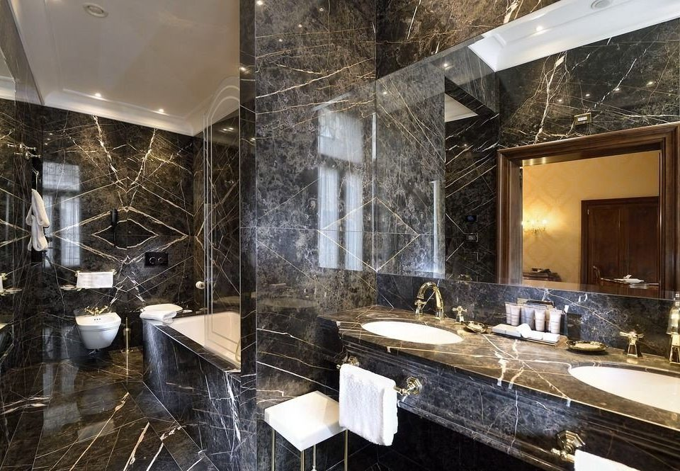 bathroom property counter home sink countertop Lobby flooring stone tiled