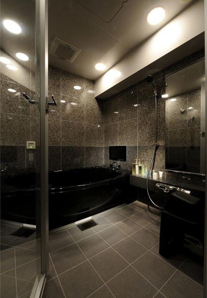 bathroom Lobby lighting sink flooring hall tiled tile