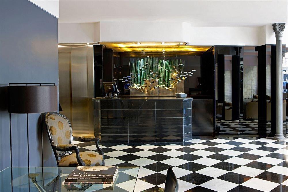 property Lobby black home living room condominium flooring restaurant tiled tile