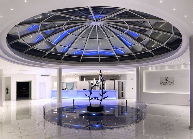 Lobby daylighting blue lighting glass living room