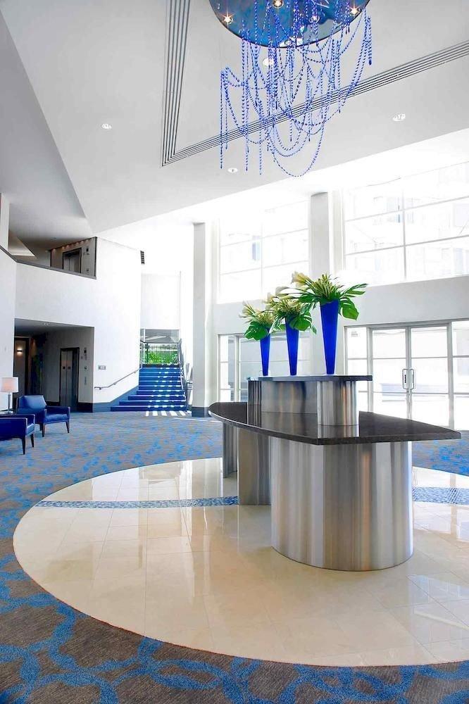 Lobby headquarters blue