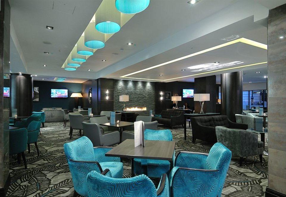 Lobby living room lighting blue