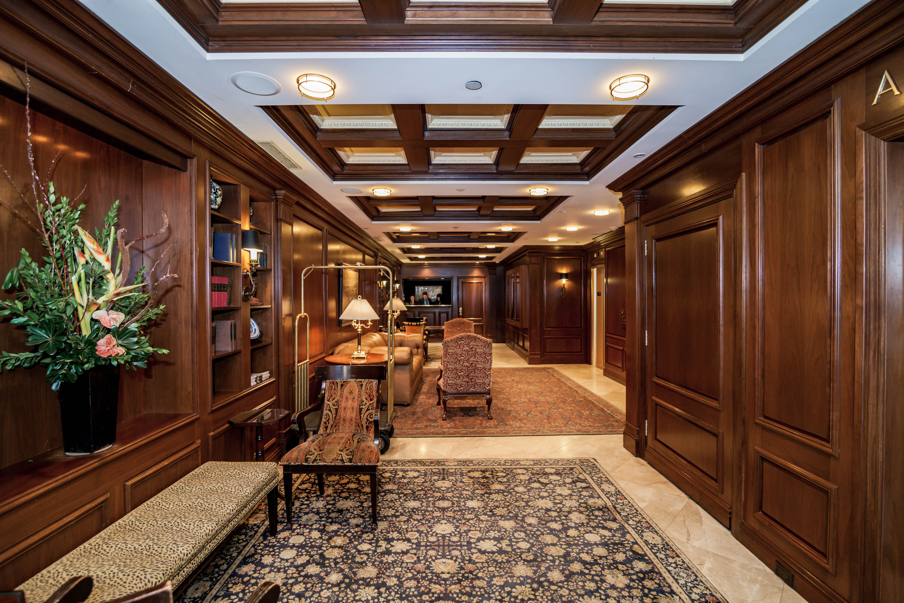 property building home Lobby mansion living room cabinetry stone