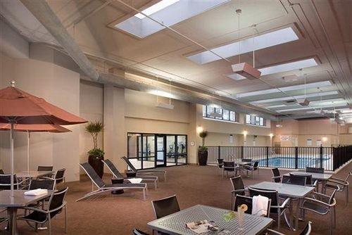 property chair building conference hall Lobby condominium convention center cafeteria office empty