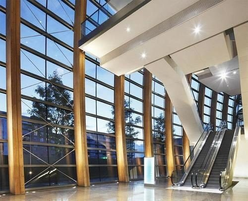 building property Lobby daylighting headquarters condominium