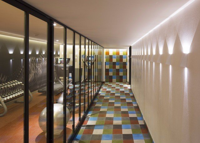 property building Lobby condominium lighting hall long headquarters tiled