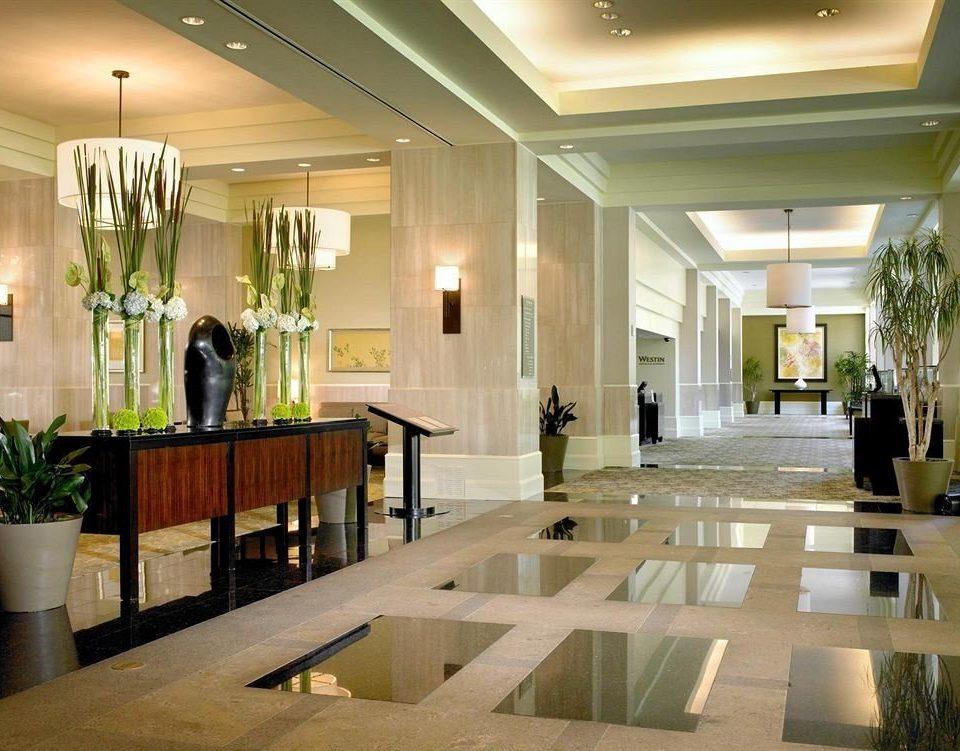 Lobby building home lighting hall condominium mansion living room plant