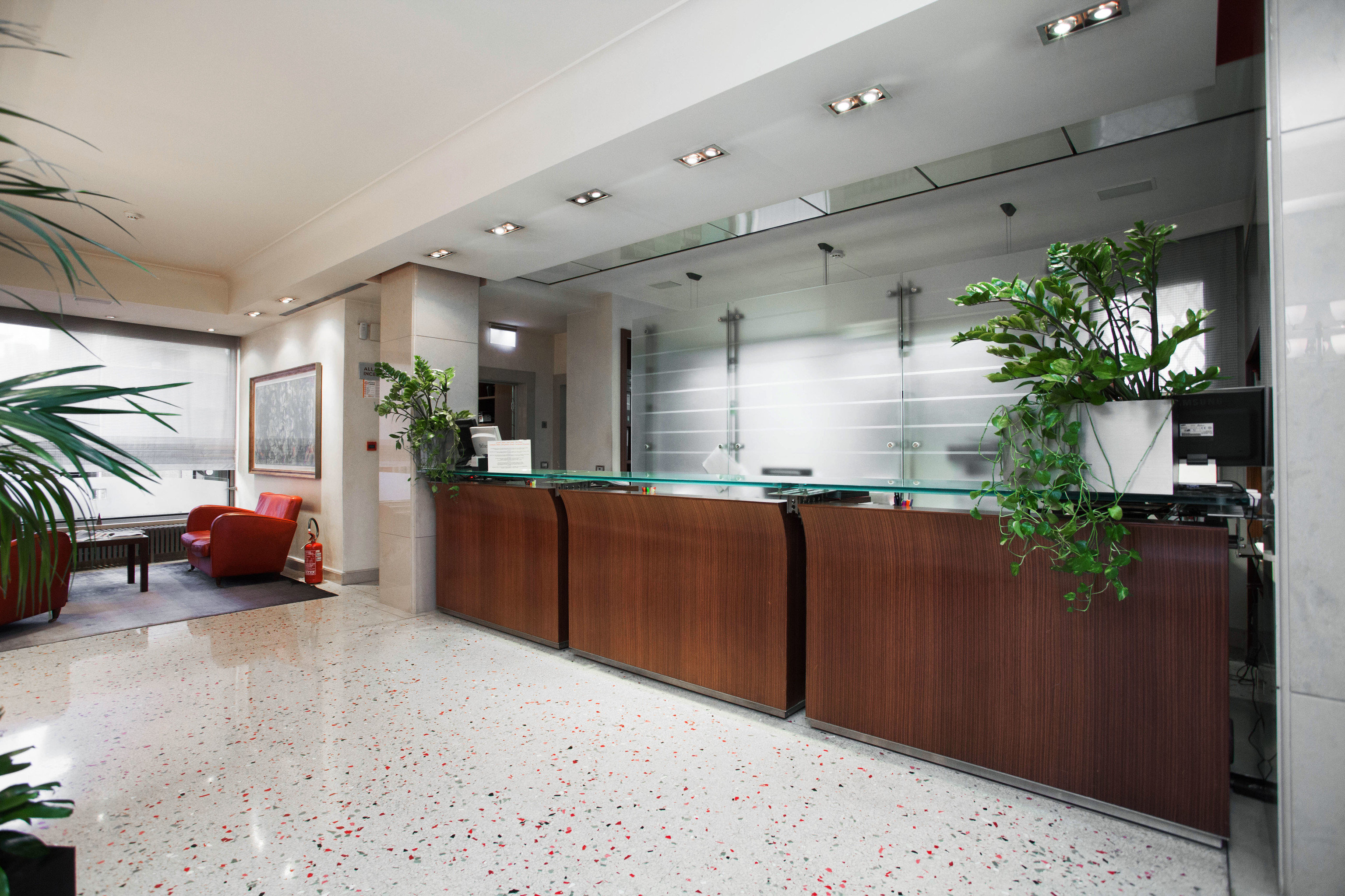 property Lobby building condominium office receptionist headquarters waiting room