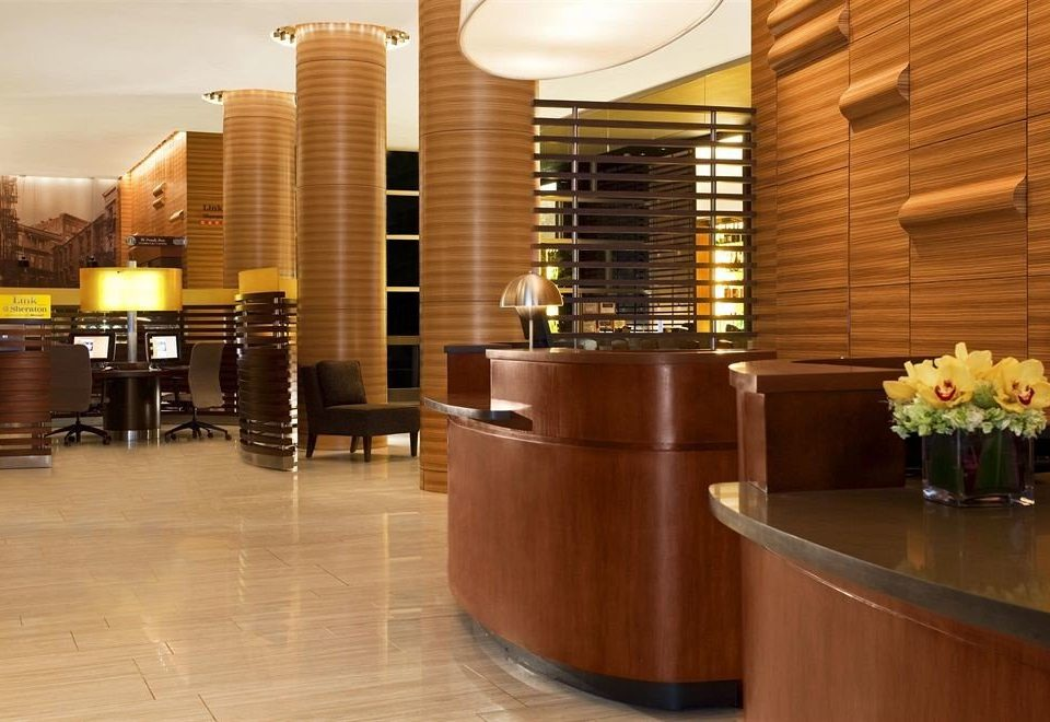 Lobby building receptionist restaurant function hall conference hall convention center flooring