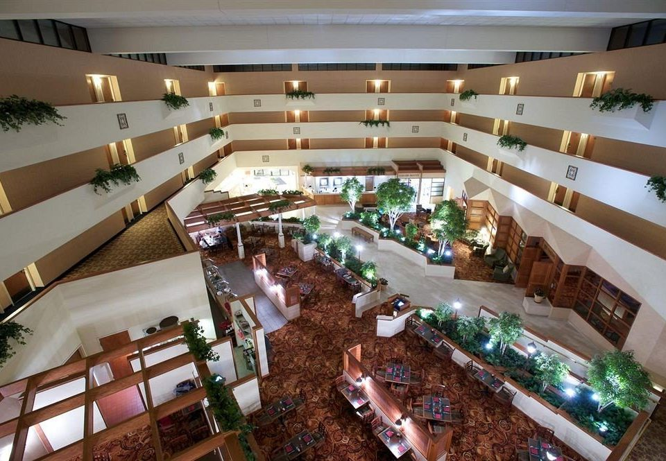 Lobby retail shopping mall building convention center
