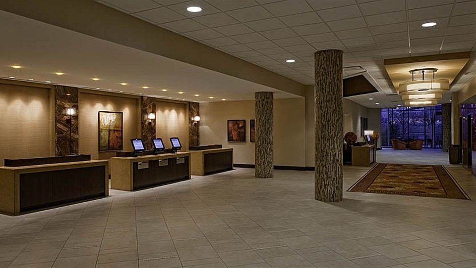 Lobby building lighting counter tourist attraction hall
