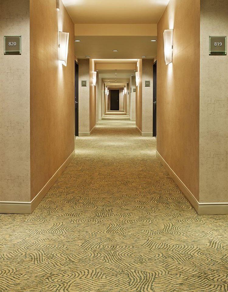 building property flooring Lobby hall wood flooring empty
