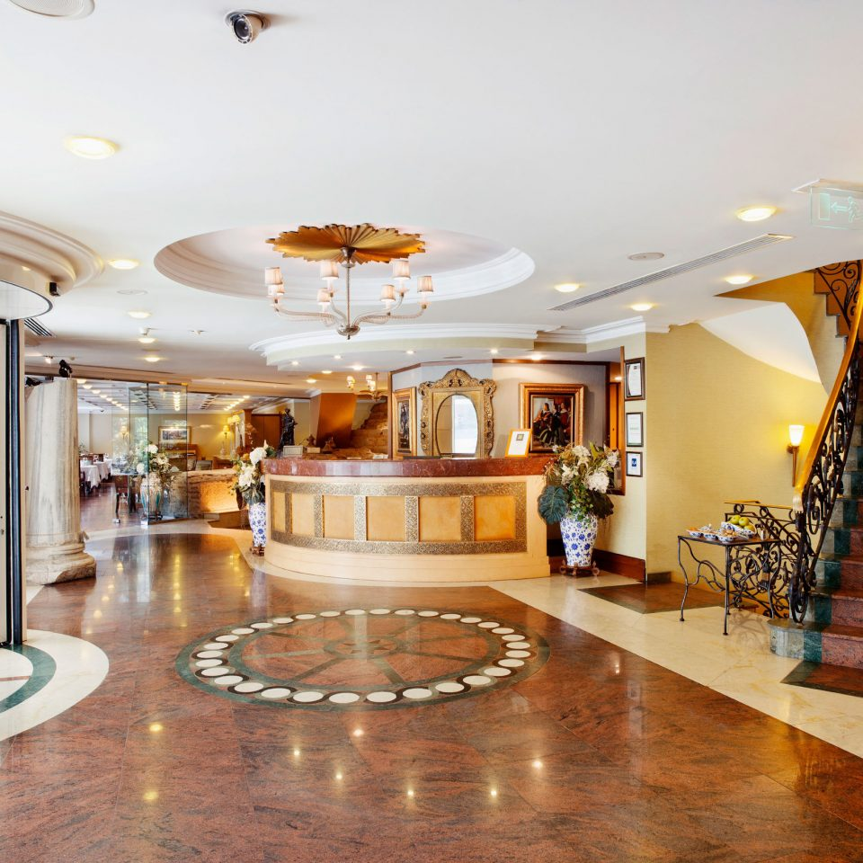 Lobby property building home mansion living room flooring function hall