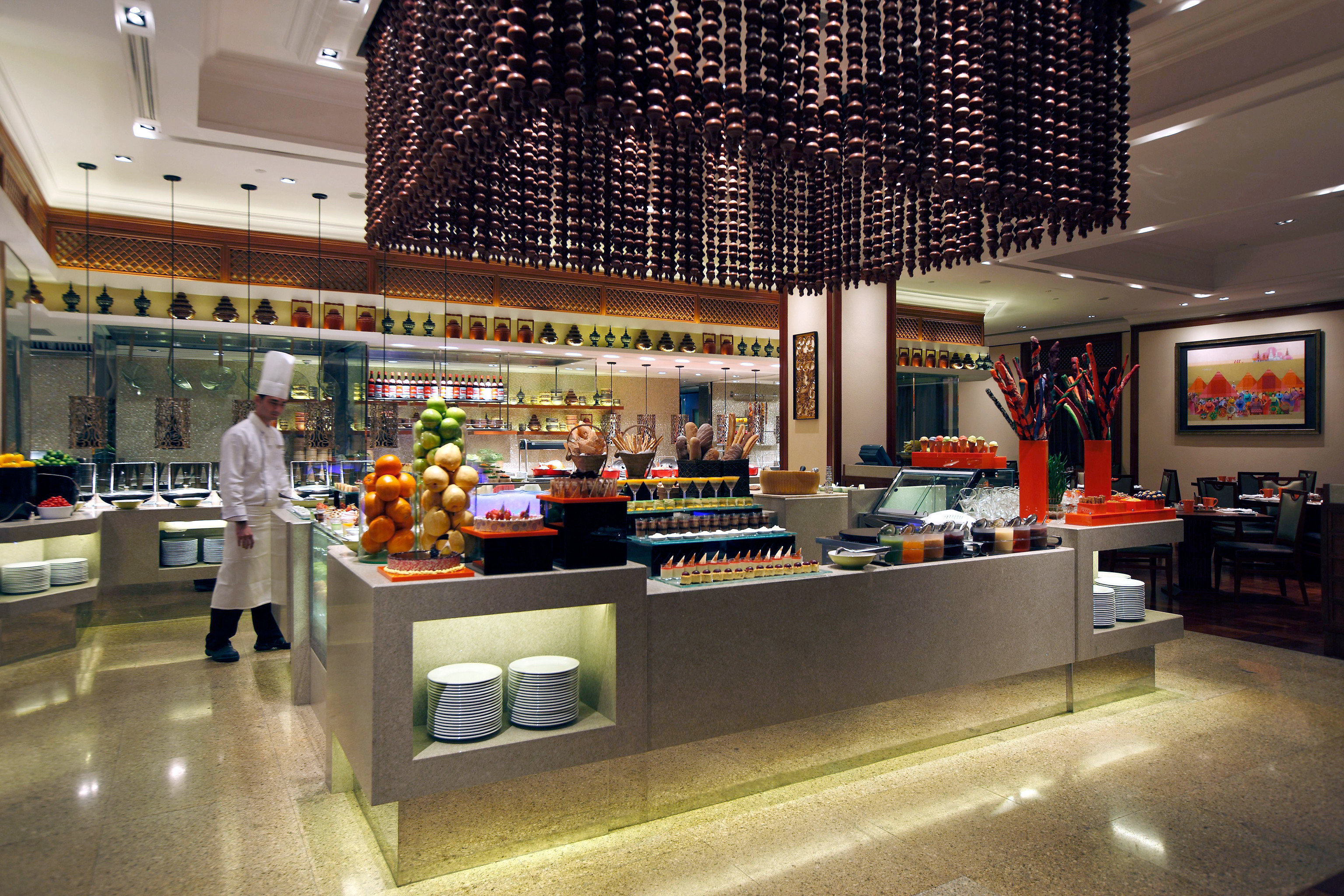 building retail shopping mall Lobby food court restaurant