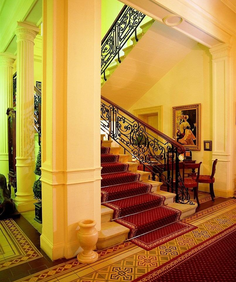 Lobby building restaurant living room hall mansion stairs