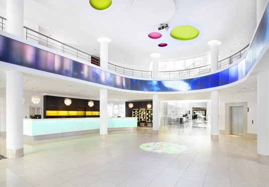 building leisure centre Lobby retail headquarters