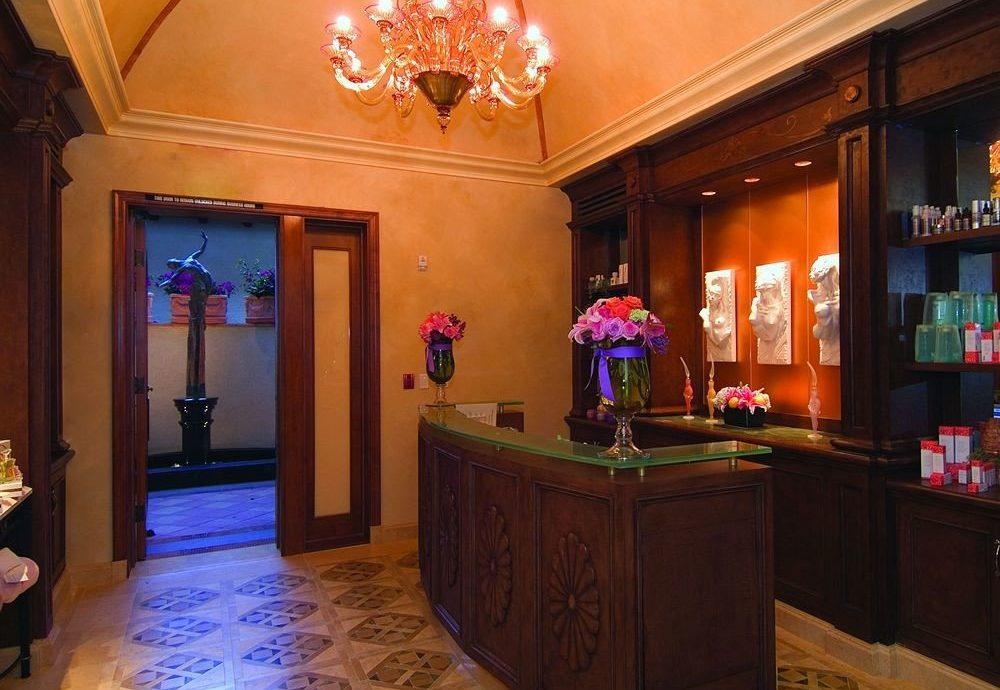 Lobby recreation room building mansion light