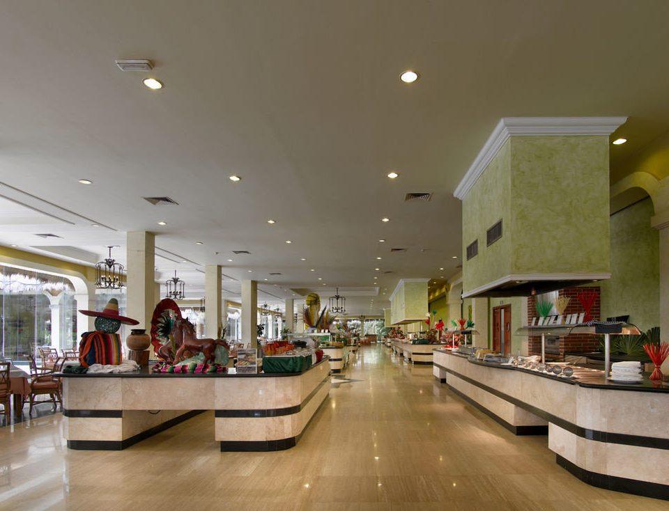 Lobby building retail shopping mall restaurant lighting plaza