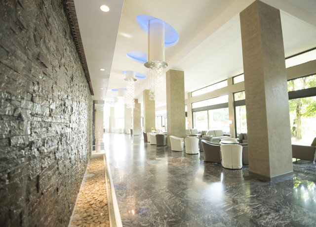 property building Lobby lighting stone