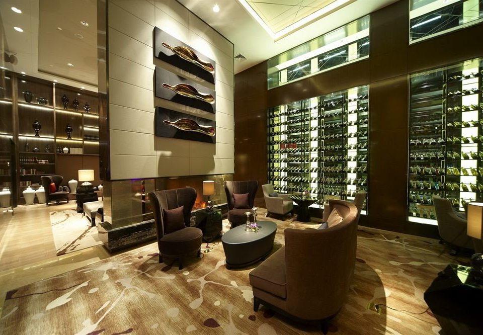 Lobby building retail living room